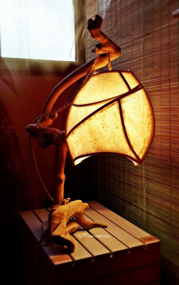 Lampe bois de mer Freya. Lampe bois flotté Freya