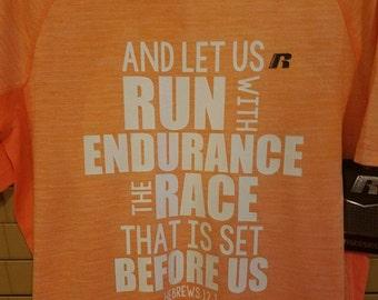 Hebrews 12.1 Running Shirt