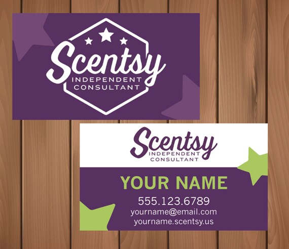 Scentsy Consultant Business Cards DIGITAL FILE