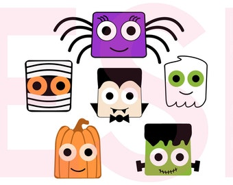 Halloween Design Set, Halloween svg files, SVG, DXF, EPS files, for use with Silhouette Studio and Cricut Design Space.