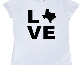 Love Texas Women's T-Shirt by Inktastic
