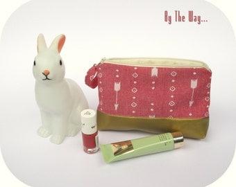 Geometric Cosmetic bag  - makeup bag
