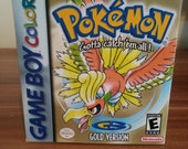 GameBoy Colour Pokemon Gold   Repro Box  Insert NO GAME INCLUDED