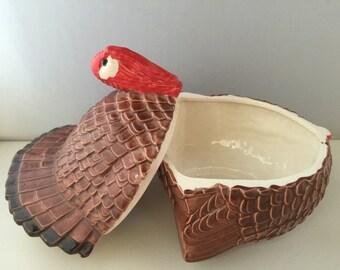 Ceramic Glazed Turkey Gravy Bowl