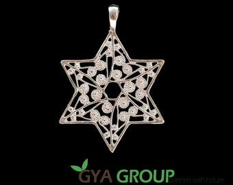A Stunning Star of David 925 Sterling Silver Judaica pendant, Jewish symbol Magen David