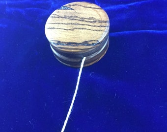 Zebrawood Yo-Yo Woodturned New