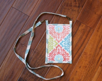 Blue and Pink Pocket Purse