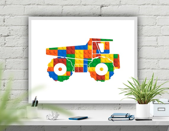 Wall Art Prints Download : Dump truck art print printable nursery decor work vehicle