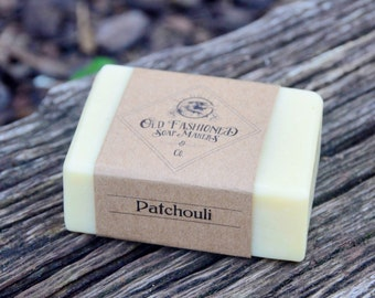 Patchouli Soap / Essential Oil Soap / Handmade Cold Process Soap / Vegan