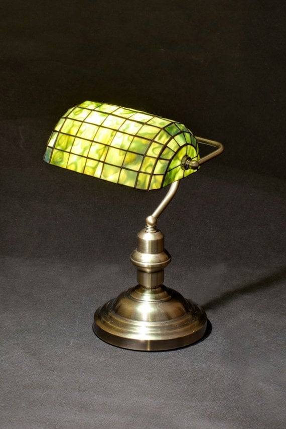 Bankers lamp library lamp brass lamp stained glass lamp like this item aloadofball Choice Image