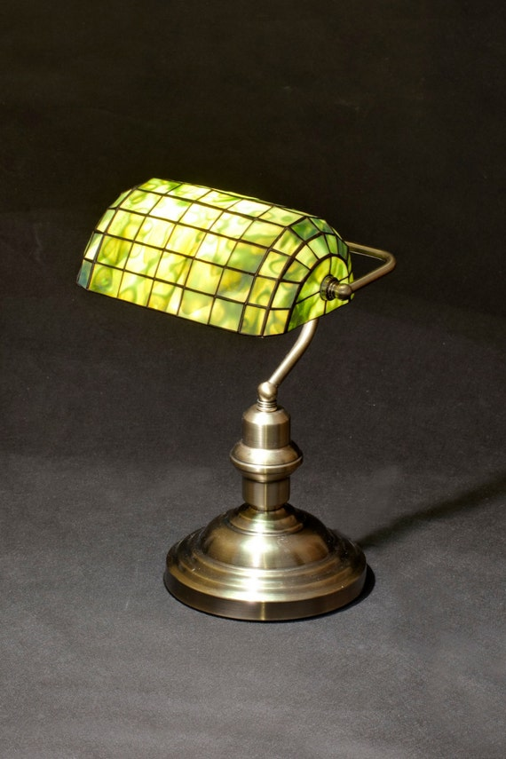 Bankers lamp library lamp brass lamp stained glass lamp like this item aloadofball