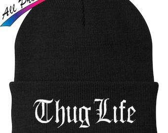 Thug Life Beanie Rap Music 2 Pac 2Pac Tupac Shakur One Size Fits Most