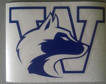 Washington Huskies Combo Logo - UW - Vinyl Decal Sticker