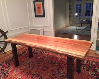 Live Edge Dining Table Redwood by Dog and Pig Furniture