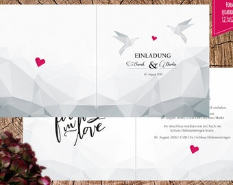 Invitation card geometric