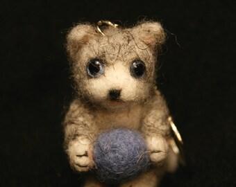 Grey Kitten Keychain