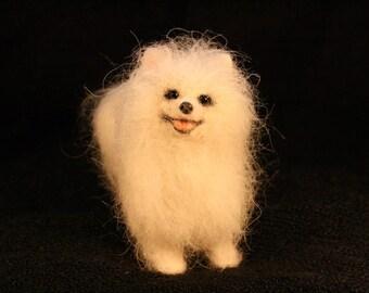 Miniature Needle Felted Pomeranian