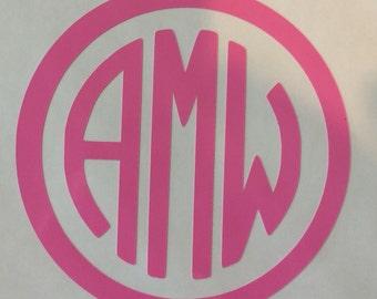 3 inch Vinyl Monogram