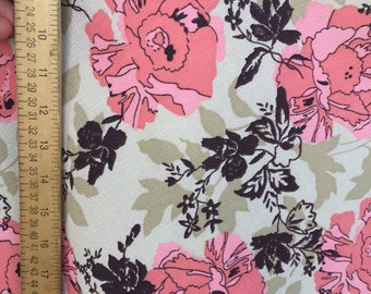 100% flax floral French linen