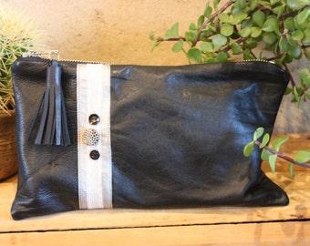 Leather Clutch - SALE ITEM