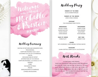 Marriage Programs Printed On Luxury Pearlescent Paper Gold