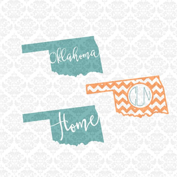 Oklahoma State Outline Chevron Monogram Hearts Love Home SVG STUDIO Ai EPS Scalable Vector Instant DOwnload Commercial Use Cricut Silhouette