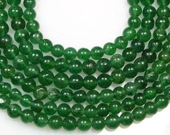 "5 Strands Round Green Aventurine Semi-Precious Gemstone Loose Beads 6mm(2/8"")"