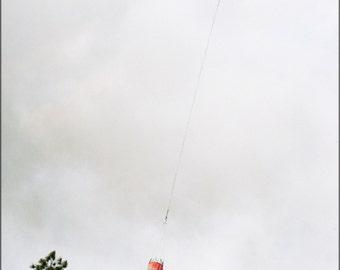 24x36 Poster . Kaman K1200 K-Max Drops Water On Wildfire, Florida