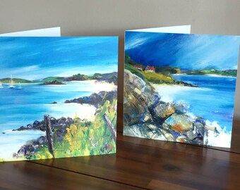 Isle of Gigha greeting cards - set of 2