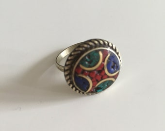 Boho ring, gypsy ring, tribal ring, ethnic ring, bohemian jewelry, vintage ring