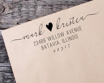 Return Address Self Inking Stamp, Wedding Return Address Self Inking Stamp, Custom Address Stamp - 093