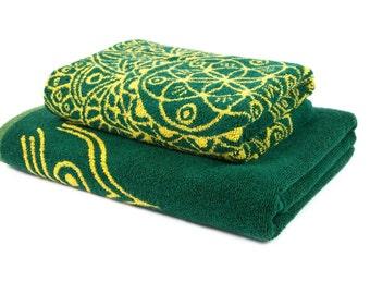 FREE SHIPPING Designer Bath Towels Set Mandala Art Valentine Gifts for Husband Valentines Day for Boyfriend