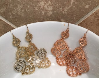 Beautiful Chandelier Earring in Gold and Rose Gold