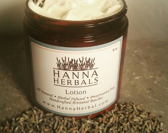 Lavender Herbal Moisturizing Body Lotion = organic lavender - lavender lotion - lavender body cream - herbal lotion - dried lavender