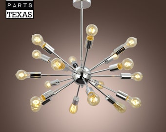 Stars at Night 18 bulb chrome chandelier - Free Shipping