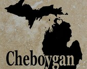 Set of 4 Cheboygan Michigan Coasters