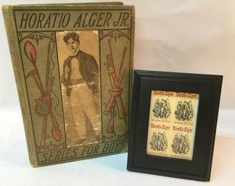 Vintage Book And Stamps Collectible Horatio Alger