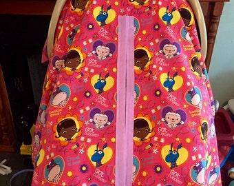 Handmade Doc McStuffins Lightweight Baby Car Seat Cover!!