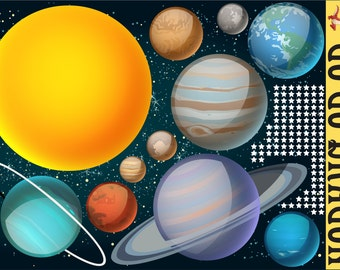 Wall Decals of Outer Space - WDSET10019