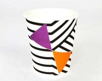 8 Halloween paper cups / Halloween Party