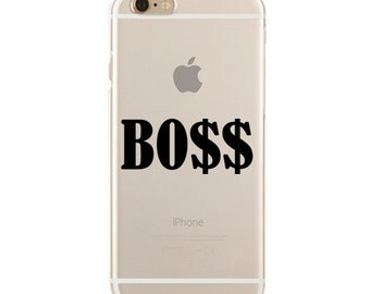 BOSS - Slim & Transparent case for iPhone - by HeartOnMyFingers - SLIMCASE-146