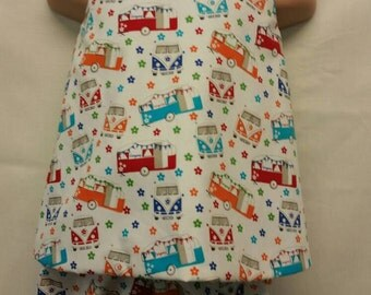 Campervan crossover dress and shorts set