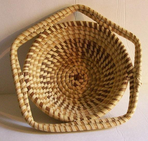 Handmade Baskets In Charleston : Vintage charleston gullah geechie star shaped basket five