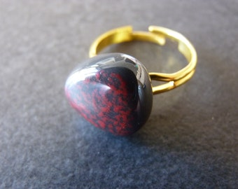 Ring *emaillé 1* red
