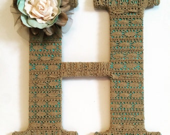 Wall Letters, Decorative Letters, Home Decor, Nursery Decor, Baby Gift, Letter H, Housewarming Gift, Gift for Her, Tightly Wound Designs