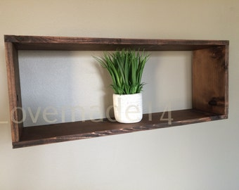 box shelf, rustic shelf, cube shelf, wall shelf