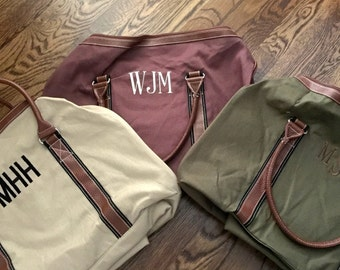 Personalized Mens Duffle Bags - Monogrammed Duffle Bag - Monogrammed Duffle Bag - Personalized Duffle Bag