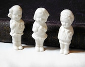 "Bisque Porcelain Small Ones Repro , Reproductions of German antique small frozen dolls 1 3/4"" ,Ready to Paint, Doll Parts ,Repair/Repurpose"
