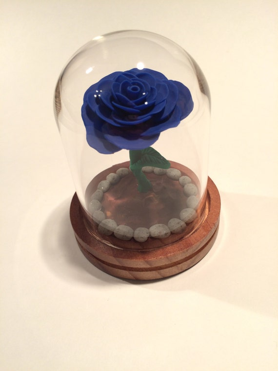 Dark Blue Rose Beauty And The Beast Rose Rose In Glass
