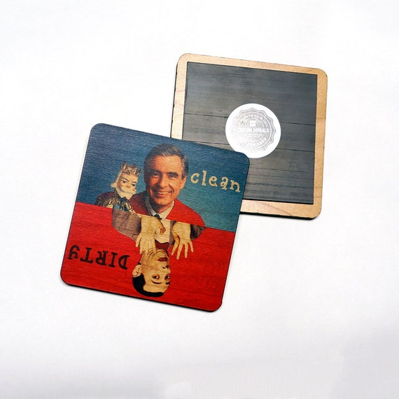 Clean Dirty Dishwasher Magnet Mr Rogers Pee Wee By